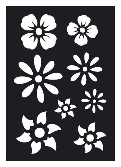 "CREATEX Tattoo Stencil ""Flowers"" self-adhesive approx. 7 cm x 10 cm"
