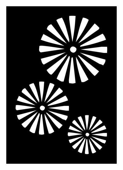 "CREATEX Tattoo Stencil ""Psyche 2"" self-adhesive approx. 7 cm x 10 cm"