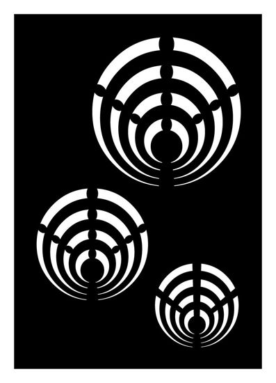 "CREATEX Tattoo Stencil ""Psyche 4"" self-adhesive approx. 7 cm x 10 cm"
