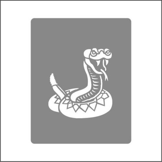 "CREATEX Tattoo Stencil ""Snake"" self-adhesive approx. 7 cm x 10 cm"