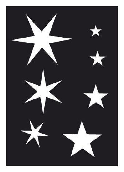 """CREATEX Tattoo Stencil """"Stars"""" self-adhesive approx. 7 cm x 10 cm"""