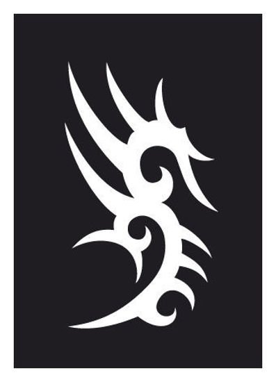 "CREATEX Tattoo Stencil ""Tribal 7"" self-adhesive approx. 7 cm x 10 cm"