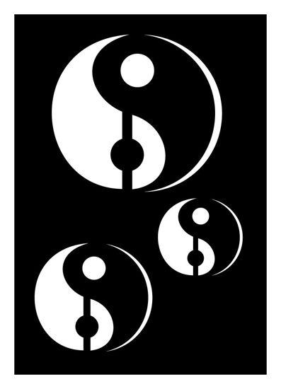 "CREATEX Tattoo Stencil ""Yin&Yang"" self-adhesive approx. 7 cm x 10 cm"